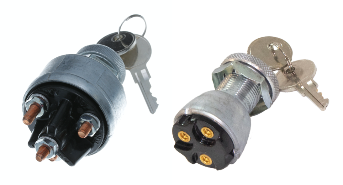 Ignition switches can be used in a variety of transportation and industrial applications ranging from run/start ignition to single-point control for lights and accessories. Switch Components offers universal components that easily replaces any other type of ignition key switch with similar mounting dimensions.