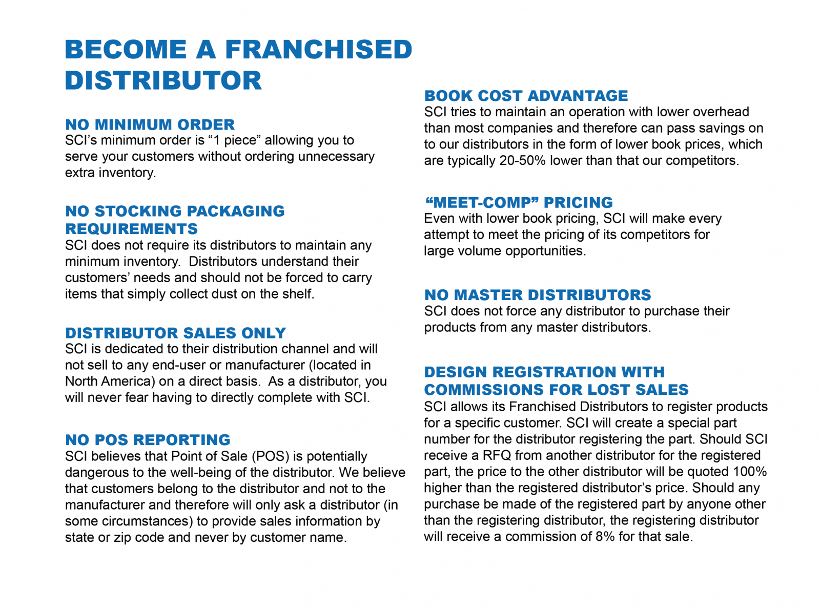 Become / Find our Distributor | Switch Components Inc