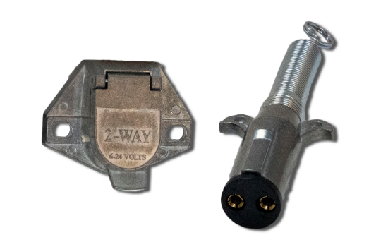Designed specifically for lift-gate applications for alternative power battery charging. Manufactured using rugged diecast zinc that provides superior corrosion resistance and with solid brass pin terminals for better electrical conductivity.