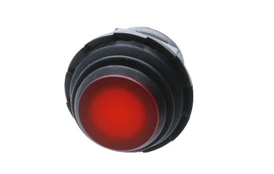 PC Push Button Switch Series is designed with a round actuator and body and an IP65 rated splash proof rubber boot that ensures protection against water and moisture (IP 65). Find PC Series available in either a momentary or latching actuation