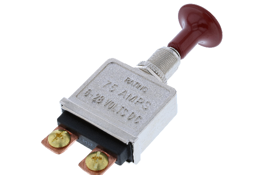 PP IS Our Push-Pull switches are designed with a finished look that is professional and sleek, typically used in older automotive models as a headlight switch. These switches feature a rugged die cast housing to extra strength and durability and an easy m