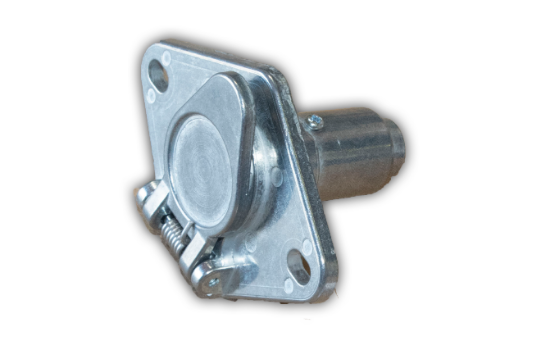 4-Pole Round socket vailable allowing the basic hookup of the three lighting functions (running, turn, and brake lights) plus one pin is provided for a ground wire. For automobile, truck, marine and recreational vehicle use.