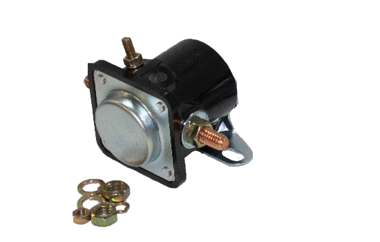 HDS1 Series solenoids are constructed of phenolic, making them light weight and durable. They are resistant to corrosion and high or low temperatures. Intermittent solenoid, actuated for a short amount of time, can handle 200A make and break rating. (1)
