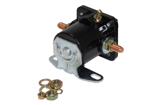 HDS1 Series solenoids are constructed of phenolic, making them light weight and durable. They are resistant to corrosion and high or low temperatures. Intermittent solenoid, actuated for a short amount of time, can handle 200A make and break rating. (2)