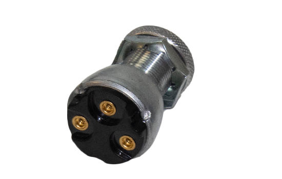 "General purpose universal locking switch that provides security and safety for 15A 6VDC / 10A 12VDC applications. Mounting Stem 3/4"" long, 3/4"" - 20 Thread. Two positions (OFF-ON) and three positions (ON-OFF-ON) options are offered. (2)"