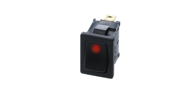 RF2 Series Mini rockers are illuminated by a dot LED offered in four different colors. These rectangular shape rocker is available in either a momentary or latching actuation. Ideal for small appliances, industrial controls and lighting panels._1