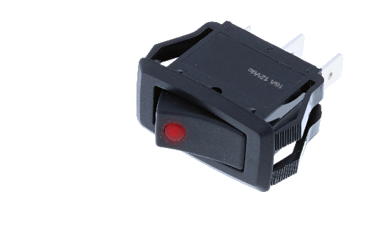 RG2 midsize rockers' actuator is illuminated by a dot LED. It's snap-in design makes installation easy into a majority of standard panel cutouts. Recommended for home appliances, computer equipment, automotive and industrial controls uses._1