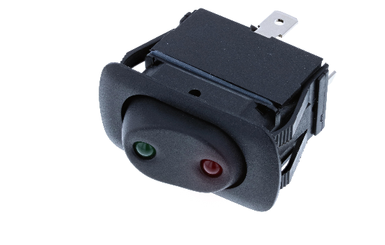 Switch Components Inc's SRA Series is designed with a rounded-rectangular wave-like actuator and a water and dust resistant frame that seals it to the IP56.Available in single and double pole with various circuit options, and offered non-illuminated or wi_1
