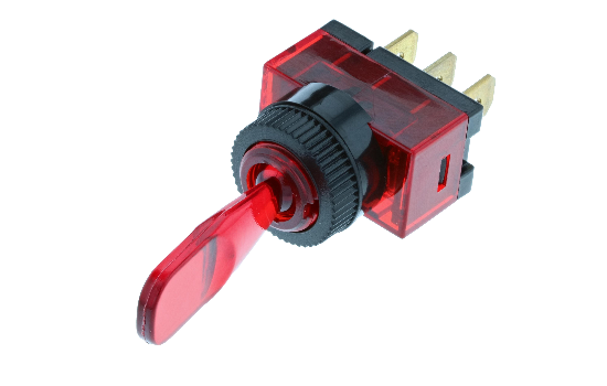 Wedge and duckbill toggles manufactured from a polycarbonate material that ensures protection against water and moisture, ideal for marine applications. Available with different handle options and LED illumination in four different colors._0