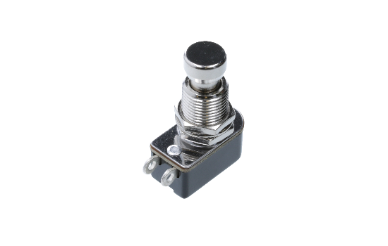 The PA2 Series provides a compact yet rugged solution to general purpose switch needs. It is designed with a chrome plated, brass face nut that supports longevity of the switch. It is available in normally open and normally close circuits._1