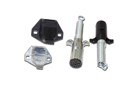 Switch Components offers several different configurations of sockets and plugs. These connectors range from the bare essentials (running lights, brake lights and turn signals), to the more complex wiring configurations. Switch Component also offers adapto