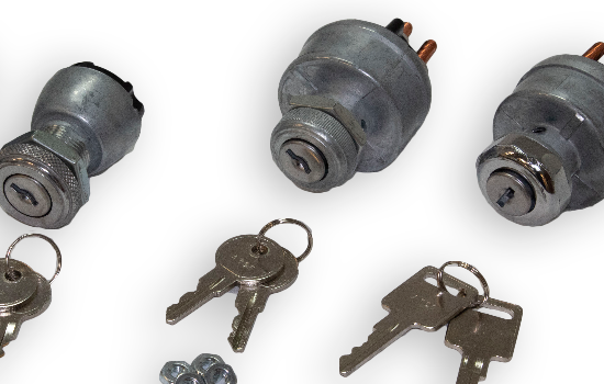 Ignition switches can be used in a variety of transportation and industrial applications ranging from run/start ignition to single-point control for lights and accessories. They are common replacements on motor ignition applications including automotive,