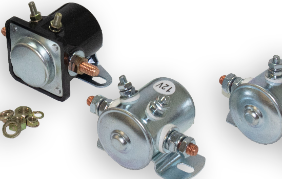 Using a solenoid switch is ideal for activating high amperage devices where a relay will not be able to carry the current required. We offer universal use Continuous or Intermittent Duty solenoids available to handle loads up to 200A make and break.